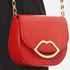Lulu Guinness Women's Small Smooth Leather Amy Cross Body Bag - Coral: Image 3