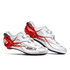 Sidi Shot Carbon Cycling Shoes - White/Red: Image 1