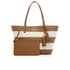 MICHAEL MICHAEL KORS Women's Striped Canvas Large East West Tote Bag - Natural/Acorn: Image 5