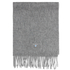 Barbour Plain Lambswool Scarf - Light Grey: Image 4