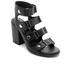 Senso Women's Stella Matt Leather Strappy Heeled Sandals - Ebony: Image 2