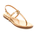 MICHAEL MICHAEL KORS Women's Suki Leather Flat Sandals - Pale Gold: Image 2