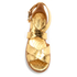 MICHAEL MICHAEL KORS Women's Darby Leather Flatform Sandals - Pale Gold: Image 3