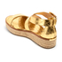 MICHAEL MICHAEL KORS Women's Darby Leather Flatform Sandals - Pale Gold: Image 4