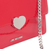 Love Moschino Women's Love Heart Double Chain Strap Shoulder Bag - Red: Image 4
