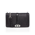 Rebecca Minkoff Women's Chevron Quilted Love Cross Body Bag - Black: Image 1