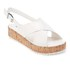 Dune Women's Kriss Leather Flatform Sandals - White: Image 2
