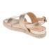 Dune Women's Lacrosse Leather Sling Back Espadrille Sandals - Gold: Image 4