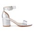 Dune Women's Jaygo Barely There Blocked Heeled Sandals - Silver Reptile: Image 1