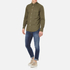 rag & bone Men's Standard Issue Beach Shirt - Dark Olive: Image 4
