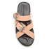 Alexander Wang Women's Kris Leather Double Strap Slide Sandals - Black/Natural: Image 3