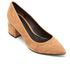 Alexander Wang Women's Simona Suede Block Heeled Court Shoes - Clay: Image 2