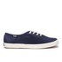 Keds Women's Champion Metallic Canvas Plimsoll Trainers - Peacoat Navy: Image 1