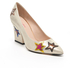 PS by Paul Smith Women's Ariel Suede Court Shoes - Champagne Metallic: Image 2