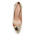 PS by Paul Smith Women's Ariel Suede Court Shoes - Champagne Metallic: Image 3