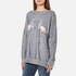 Wildfox Women's Two Flamingos Roadtrip Sweatshirt - Heather Grey: Image 2