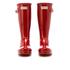 Hunter Kids' Original Gloss Wellies - Military Red: Image 2