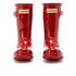 Hunter Toddlers' Original Gloss Wellies - Military Red: Image 2