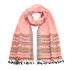 Paul Smith Women's Character Weave Tassel Scarf - Blush: Image 1