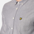 Lyle & Scott Men's Twill Mouline Long Sleeve Shirt - Light Grey Marl: Image 4