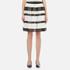 MICHAEL MICHAEL KORS Women's Stripe Lace Full Skirt - Black: Image 1