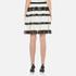 MICHAEL MICHAEL KORS Women's Stripe Lace Full Skirt - Black: Image 3