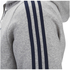 adidas Men's Essential 3 Stripe Fleece Hoody - Grey: Image 3