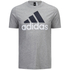 adidas Men's Essential Big Logo T-Shirt - Grey Marl: Image 1