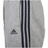 adidas Men's Essential 3 Stripe Fleece Sweatpants - Grey Marl: Image 3