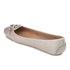 MICHAEL MICHAEL KORS Women's Fulton Leather Ballet Flats - Pearl Grey: Image 4