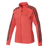 adidas Women's D2M 3 Stripe Track Top - Core Pink: Image 1
