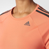 adidas Women's D2M 3 Stripe T-Shirt - Easy Coral: Image 8