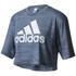 adidas Women's Aeroknit Boxy Crop Top - Blue: Image 1