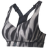 adidas Women's Climachill High Support Sports Bra - Black Print: Image 1