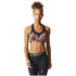 adidas Women's TechFit Graphic Medium Support Sports Bra - Print/Energy: Image 3
