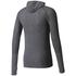 adidas Men's Primeknit Wool Hooded Long Sleeve Running Top - Utility Black: Image 2