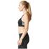 adidas Women's Strappy 3 Stripe Low Support Sports Bra - Black/White: Image 4