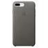 Étui en Cuir pour iPhone 7 Plus -Gris Tempête: Image 2