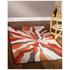 Flair Infinite Splinter Rug - Orange (200X290): Image 1