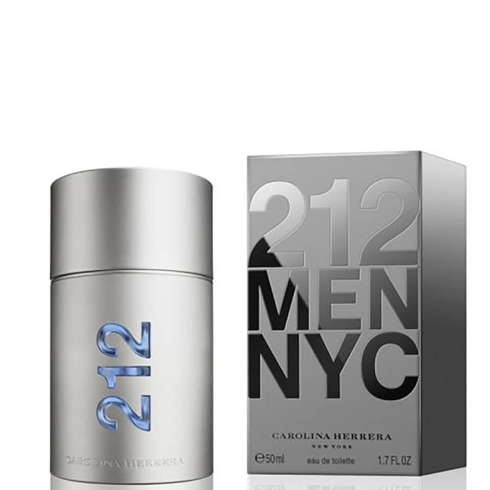 Carolina Herrera 212 Men NYC Eau de Toilette (EdT) 50 ml silber