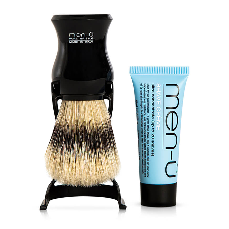 men-ü Barbiere Shave Brush and Stand Black