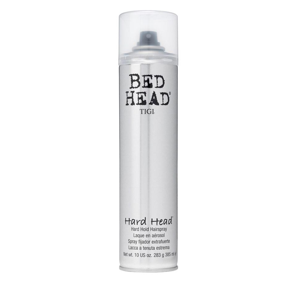 tigi bed head hard head hairspray 385ml free shipping lookfantastic. Black Bedroom Furniture Sets. Home Design Ideas