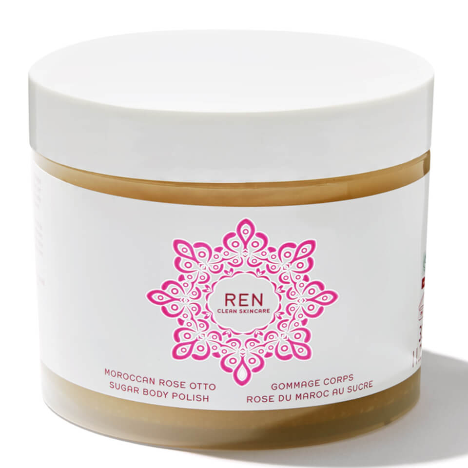 Image of REN Moroccan Rose Otto Sugar Body Polish