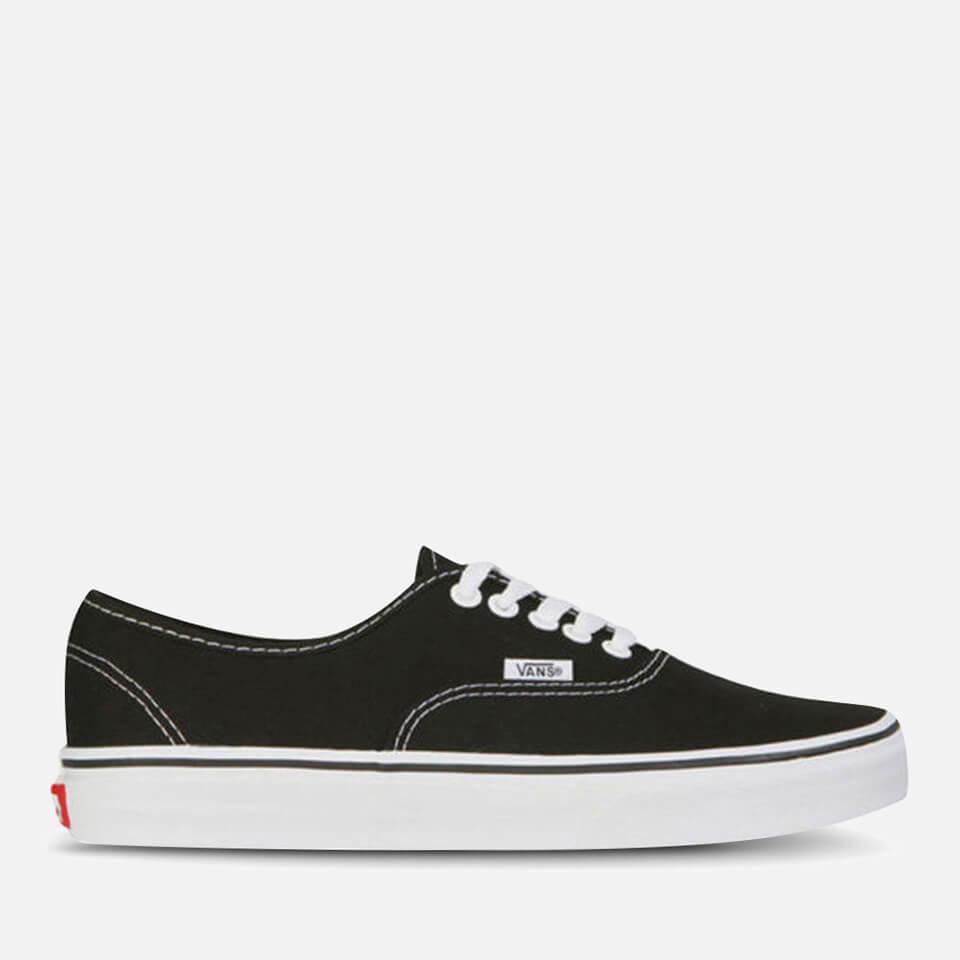 vans-authentic-canvas-trainers-blackwhite-7-black