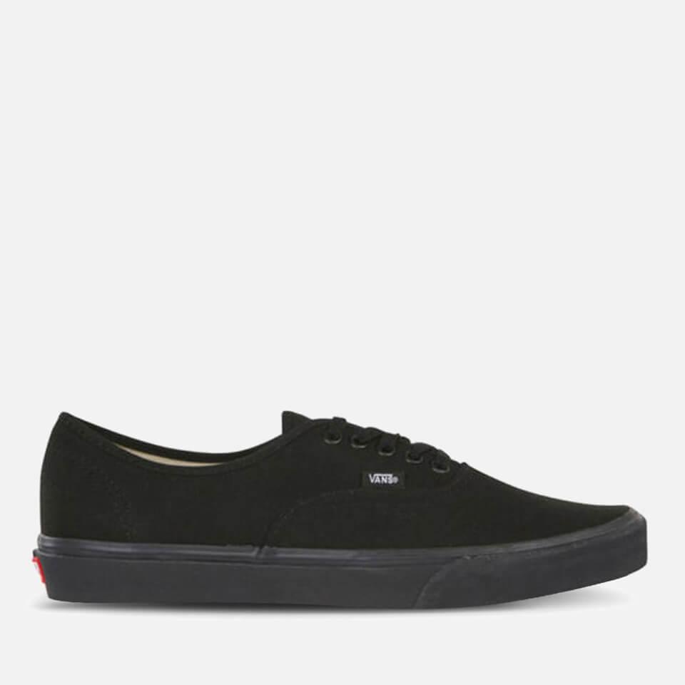 vans-authentic-canvas-trainers-blackblack-4-black