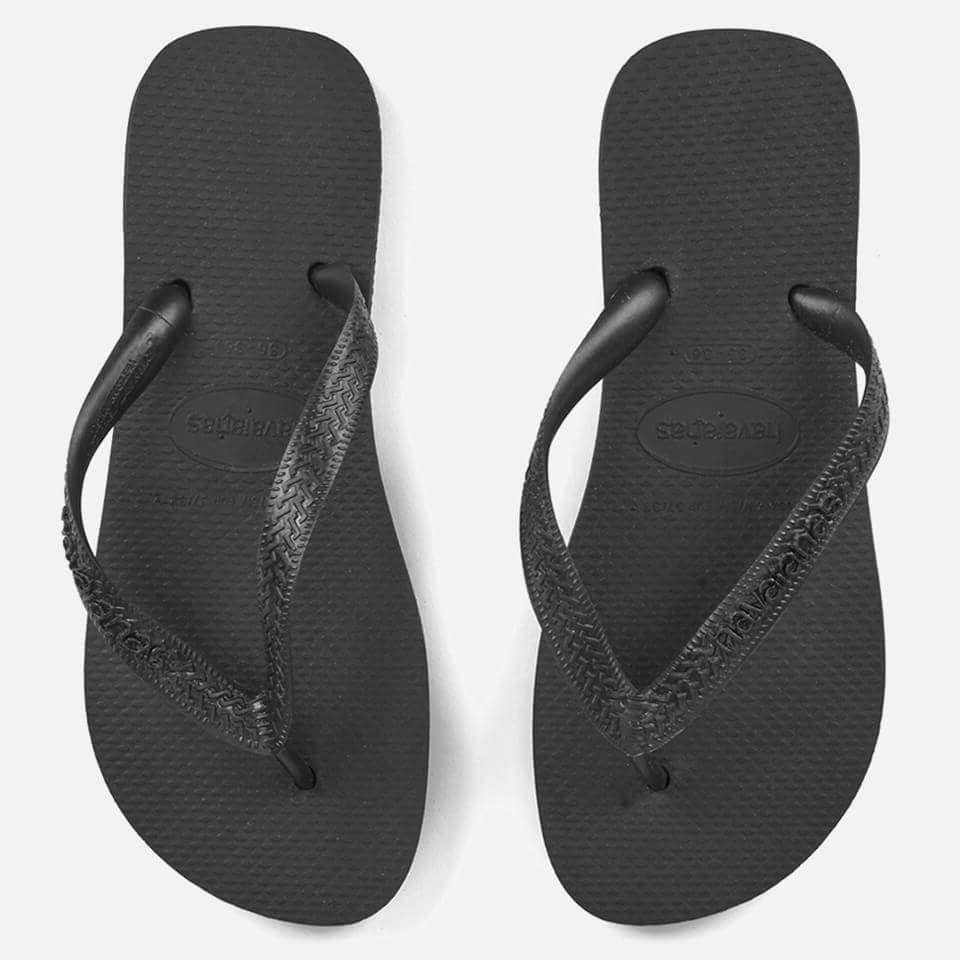 bdd13200e4486 Havaianas Top Flip Flops - Black Womens Footwear