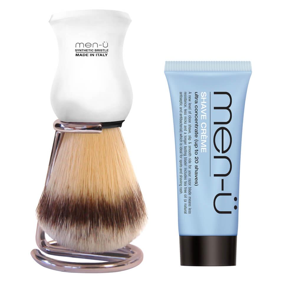 men ü DB Premier Shave Brush with Chrome Stand White mand køb billigt