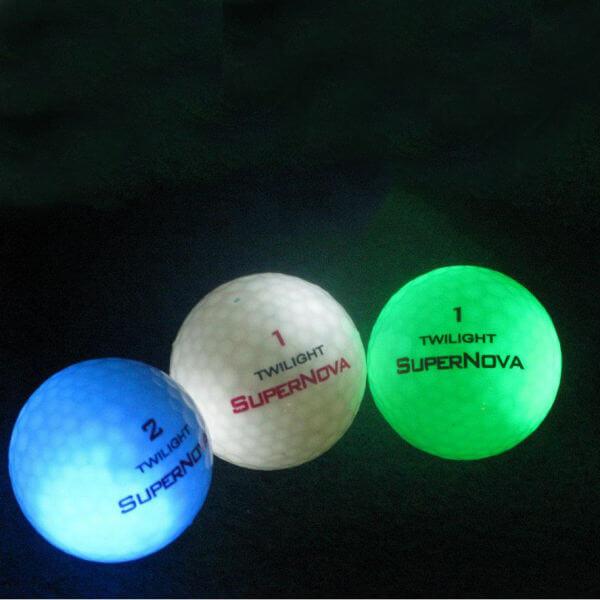 Twilight Supernova Glowing Tracer Golf Balls - Pack of 3