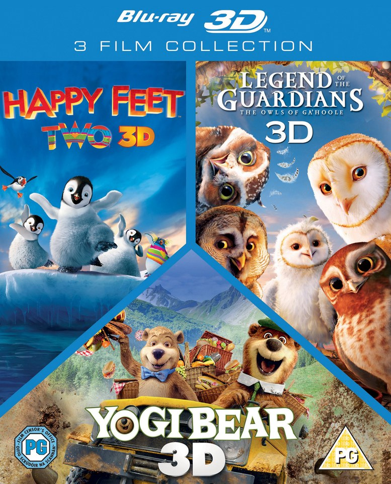 3D Triple Pack: Happy Feet 2 / Yogi Bear / Legend of the Guardians
