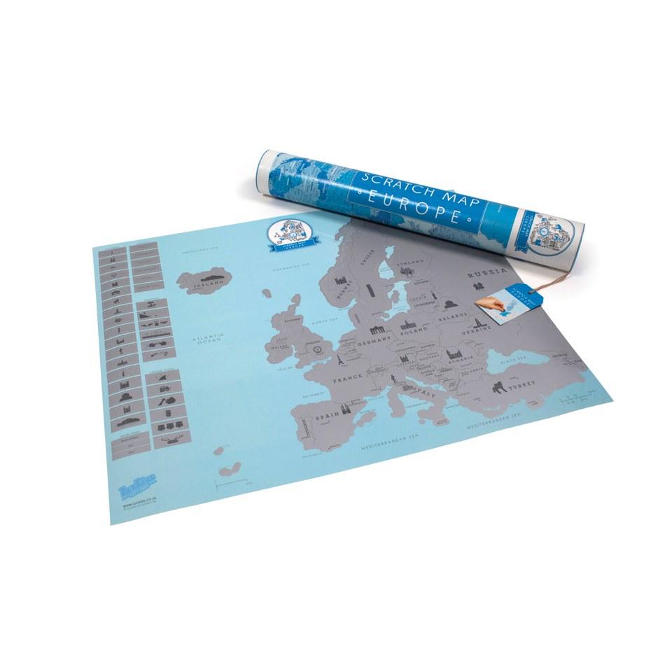 Europakarte zum frei Rubbeln Scratch Map